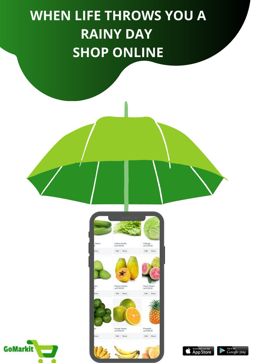 On a #RainyDay 🌧 there's nothing better than shopping online.  Doesn't feel good to shop from your phone? Download the App below & Enjoy free delivery.   👇👇👇👇👇👇👇  https://t.co/uWtTrKUNrU  #SaloneTwitter #agribusiness #agroInnovation  #agrodistribution #deliveryservice https://t.co/SB6X5VSaJs