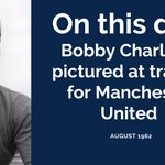 Image for the Tweet beginning: Bobby Charlton, August 1962. Pictured during