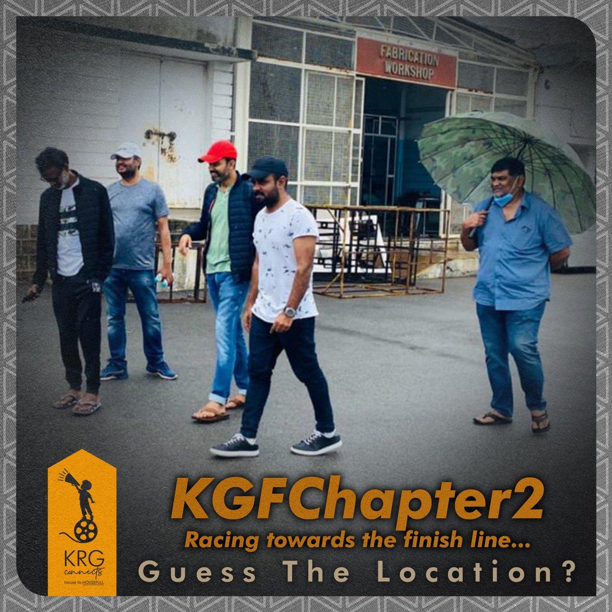 Core team on their fav turf , ready to restart🔥  #KGFCHAPTER2  @prashanth_neel @Karthik1423 @bhuvangowda84 #Shivakumar @hombalefilms https://t.co/5MQwdqWTem