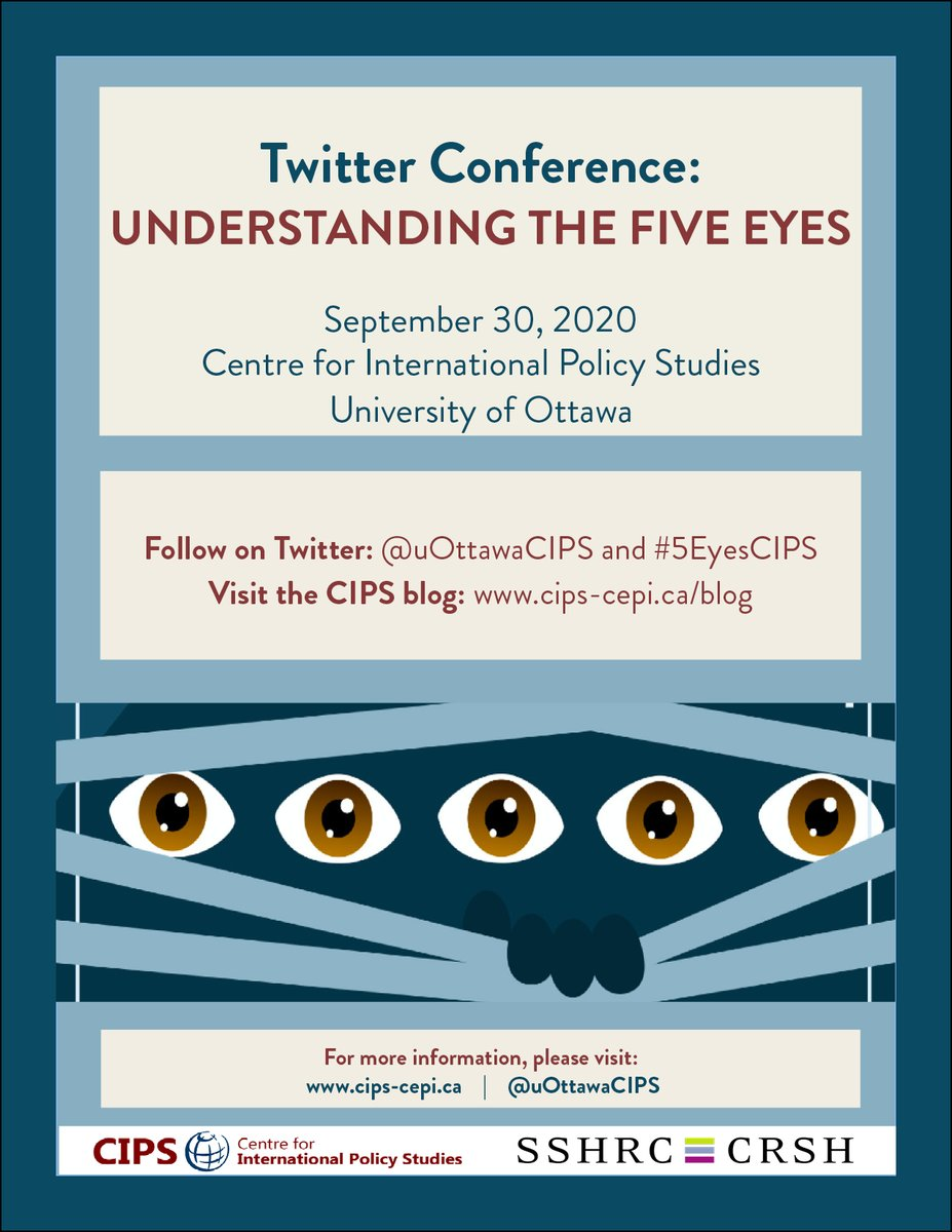 A reminder to tune in - our Twitter Conference is less than 2 weeks away. #5EyesCIPS   For more info on our presenters, see: https://t.co/TNhxlD0qu5