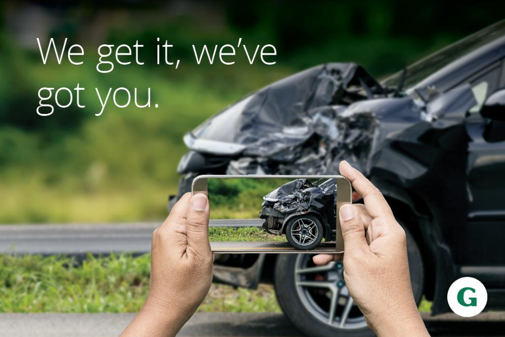We get it, accidents happen. The General Insurance has got your back. #RideWithTheGeneral