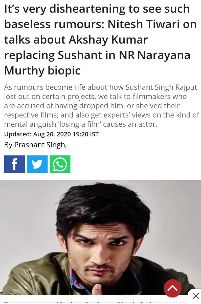 """""""Truth can't be hidden for too long"""" Here's a clarification from #NitishTiwari on all the recent fake news that has been all over internet damaging the reputation of #AkshayKumar. There should be a strict action against all those peaple who've spread this misinformation on SM 🤬 https://t.co/XcZlmEP4lB"""