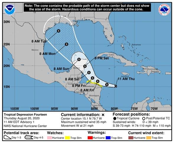 Depresión tropical en mar Caribe generaría lluvias en el país