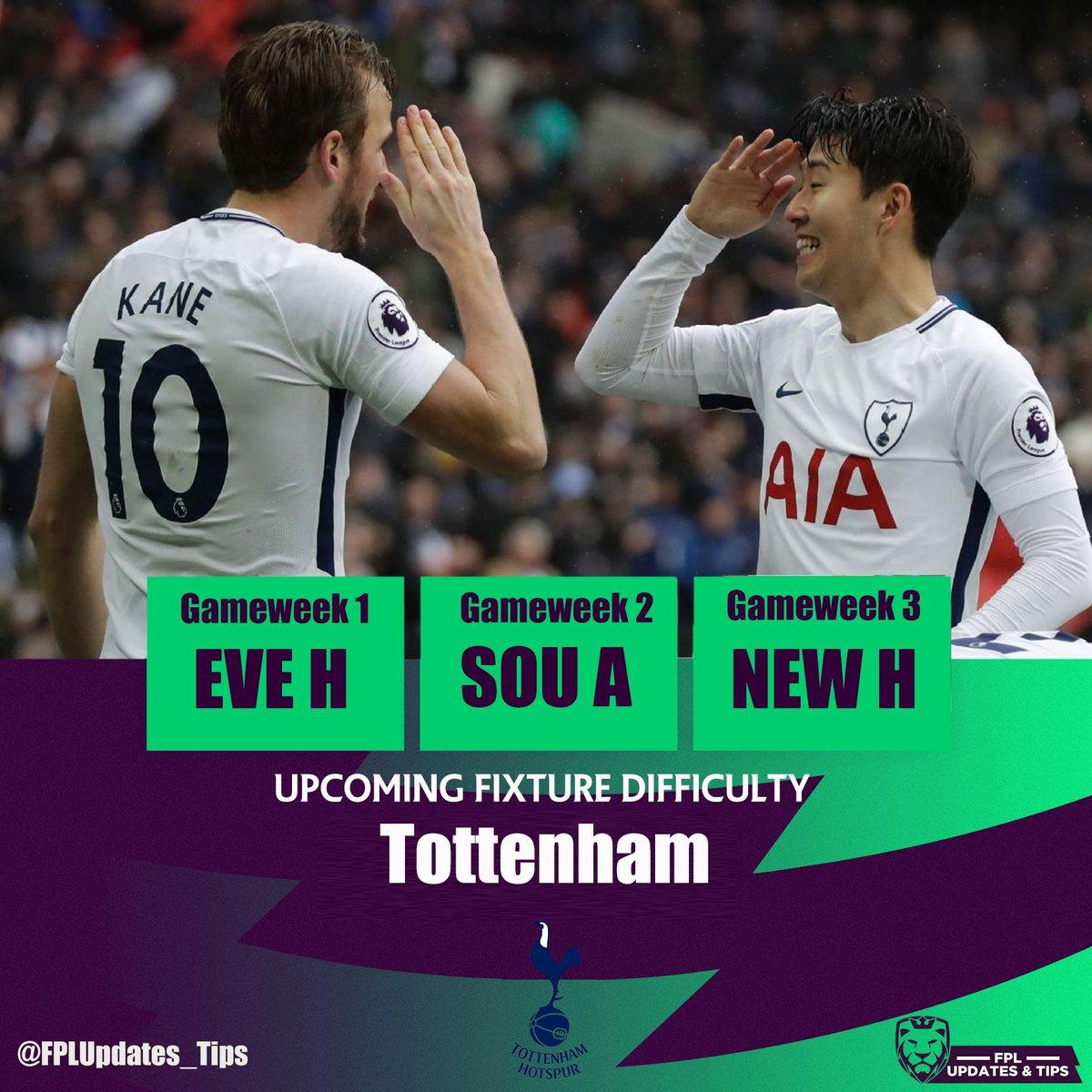 Fpl Updates Tips On Twitter Tottenham Hotspur S First 10 Plfixtures H Vs Everton A Vs Southampton H Vs Newcastle A Vs Man Utd H Vs West Ham A Vs Burnley H Vs