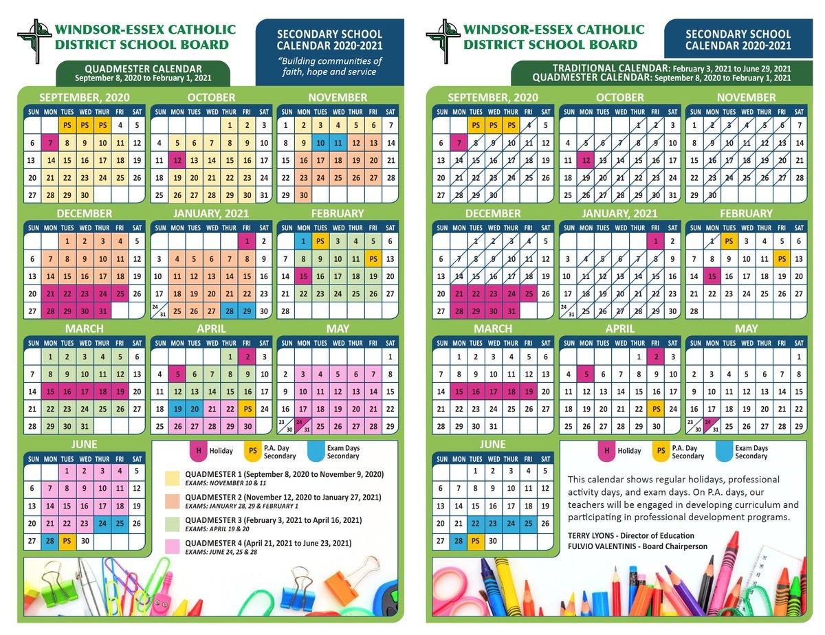 Windsor School Calendar 2021 Wallpaper
