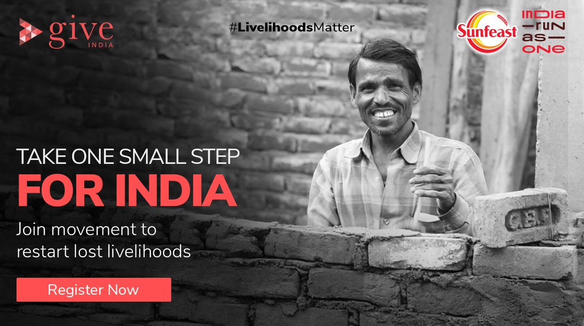 Procam International launched Sunfeast @Indiarunasone to give every Indian an opportunity to contribute to rebuilding the lives and livelihoods of those worst hit by the pandemic.   Join the movement, register now:   #LivelihoodsMatter #MoveForGood