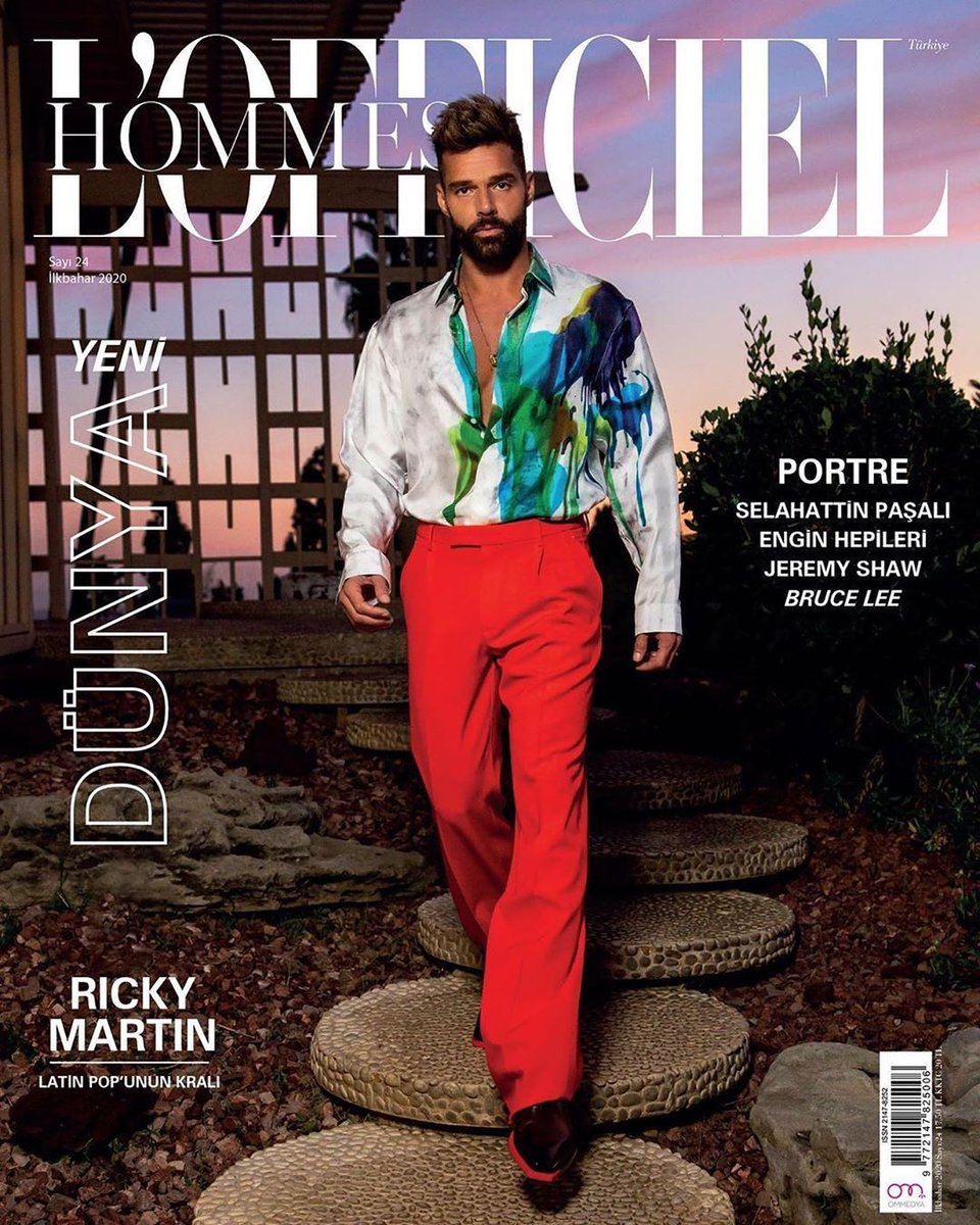 #Repost Excited to share a second cover from the shoot with this  humanitarian.  Thanks @ricky_martin #lofficielhommesturkiye  Photo #nicolaswagnerphoto  Stylist #dvlstylist  Wearing @berluti by #krisvanassche @jeanpierrebaux  PR #ktencer1  Hair #thecooljoey  Makeup @hanicmakeup