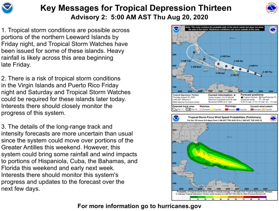 Experts at @NHC_Atlantic are monitoring Tropical Depression Thirteen closely and predict this storm could impact Florida as early as this weekend.   We must take this threat seriously & don't wait to prepare. https://t.co/h1UxRfkcPr #PrepareFL https://t.co/fZDb1lA95Z