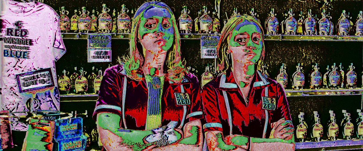 Oh my god, could you stop being so basic?  #yogahosers #kevinsmith #harleyquinnsmith #lilyrosedepp #horrorart #cultmovie #movieart #glitchart #visualartist #art #artistsoninstagram #glitch #vhs #aesthetic https://t.co/CcEK6YIsMI