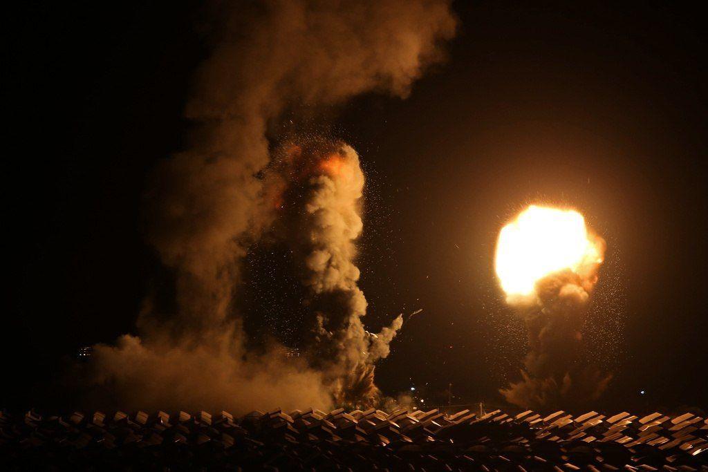 Khanyounis southern Gaza Strip at the moment. #GazaUnderAttack