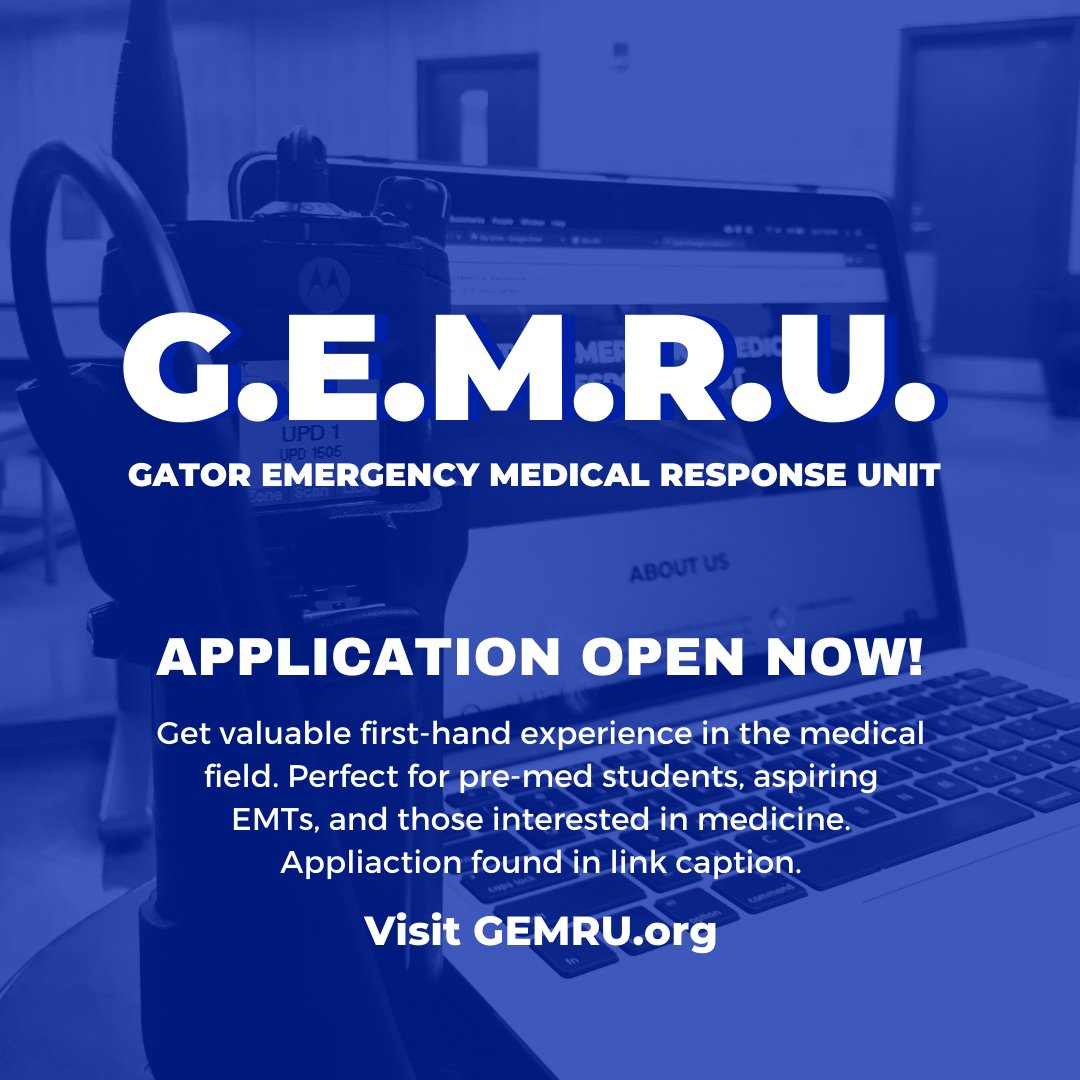 Time is running out! Apply for GEMRU today at docs.google.com/forms/d/e/1FAI…