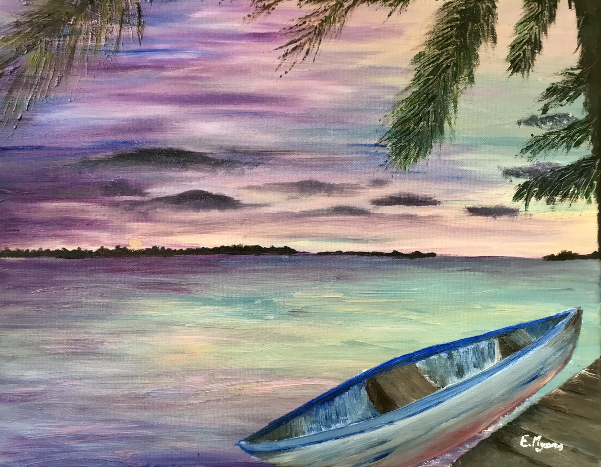Excited to open my #etsy shop: This print is called Peaceful Evening.  https://t.co/VwXCMLBRtO #sunset #beachlife #livebythebeach #beach #purple #painting #blue #unframed #entryway #artdeco #emilsecreations https://t.co/oJd7clftOe