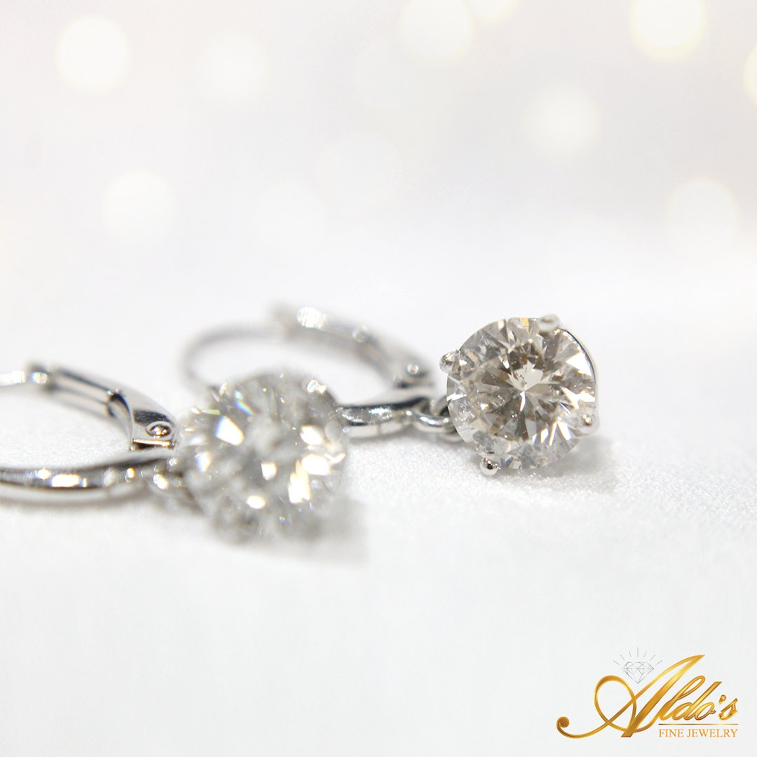 Delicate Pair Of Diamond Earrings