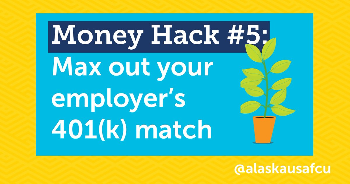 Here's an underrated money hack for anyone between the age of 24 and 39 🤑 It may seem like a luxury now, but the longer your money sits in a retirement account, the more it will grow 🌱 Want more money hacks? Here's top 5 🔗 https://t.co/UnVhqFSFCq https://t.co/hjpmF3tETO