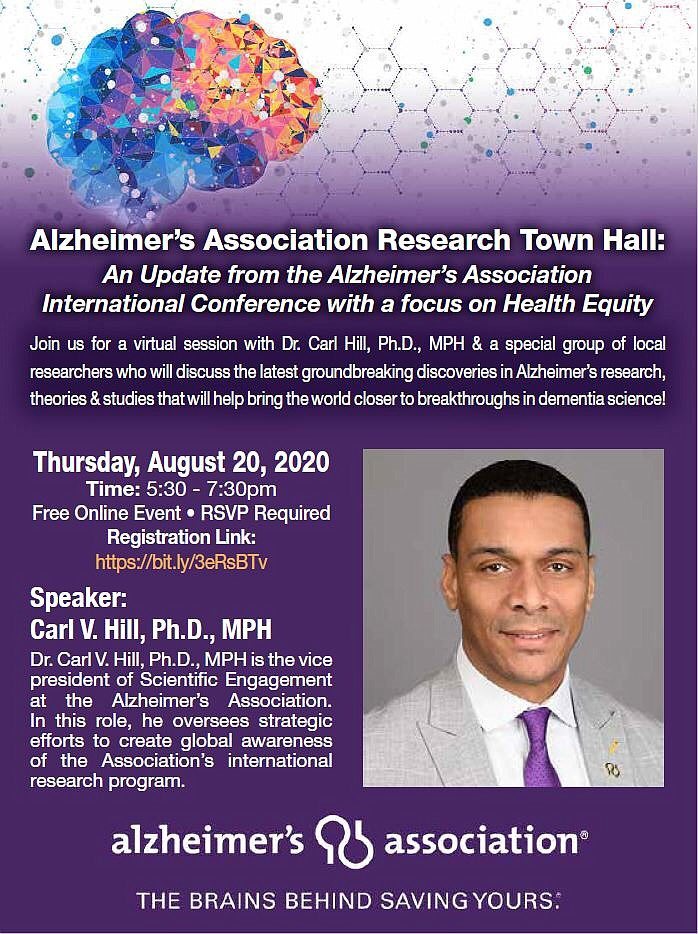 🚨 Very much look forward to @alzassociation Research Town Hall with @hillcv17. Will begin soon at 8:30pm ET. #ADRD #AlzheimersDisease https://t.co/tSHmX03D9u