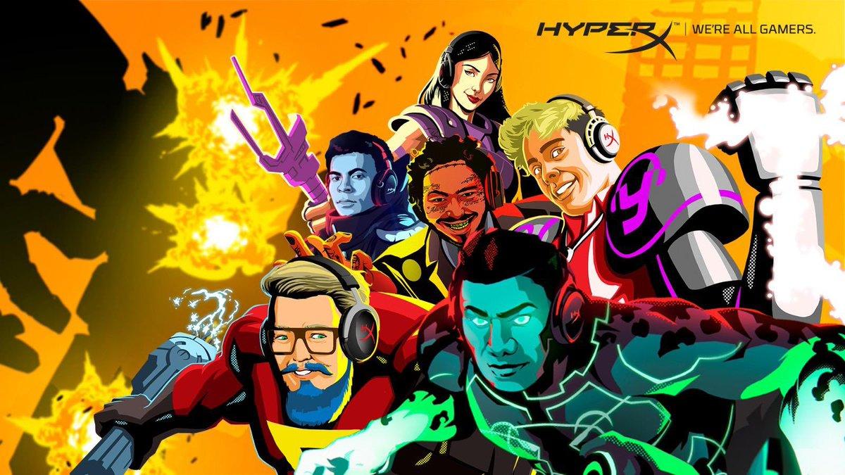 Bem-vindos @NyviEstephan, @StoneDYooDa e @PaiTambemJoga ao time dos Heróis @HyperXBrasil! We`re all gamers! https://t.co/lT7Qu4X2WJ