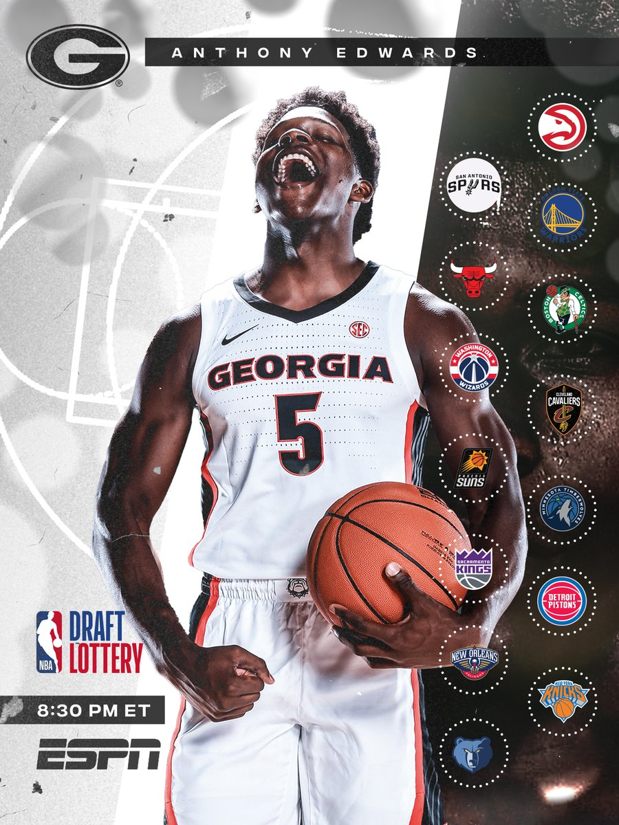 It's time for the #NBADraftLottery 👀Who's ready?  #DawgsintheNBA #GoDawgs https://t.co/RRkqvkYpw4