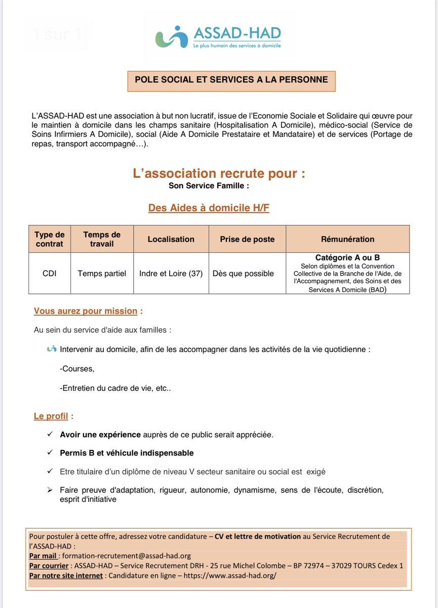 """Tony-Marc Camus على تويتر: """"LASSAD-HAD recrute également : - des"""