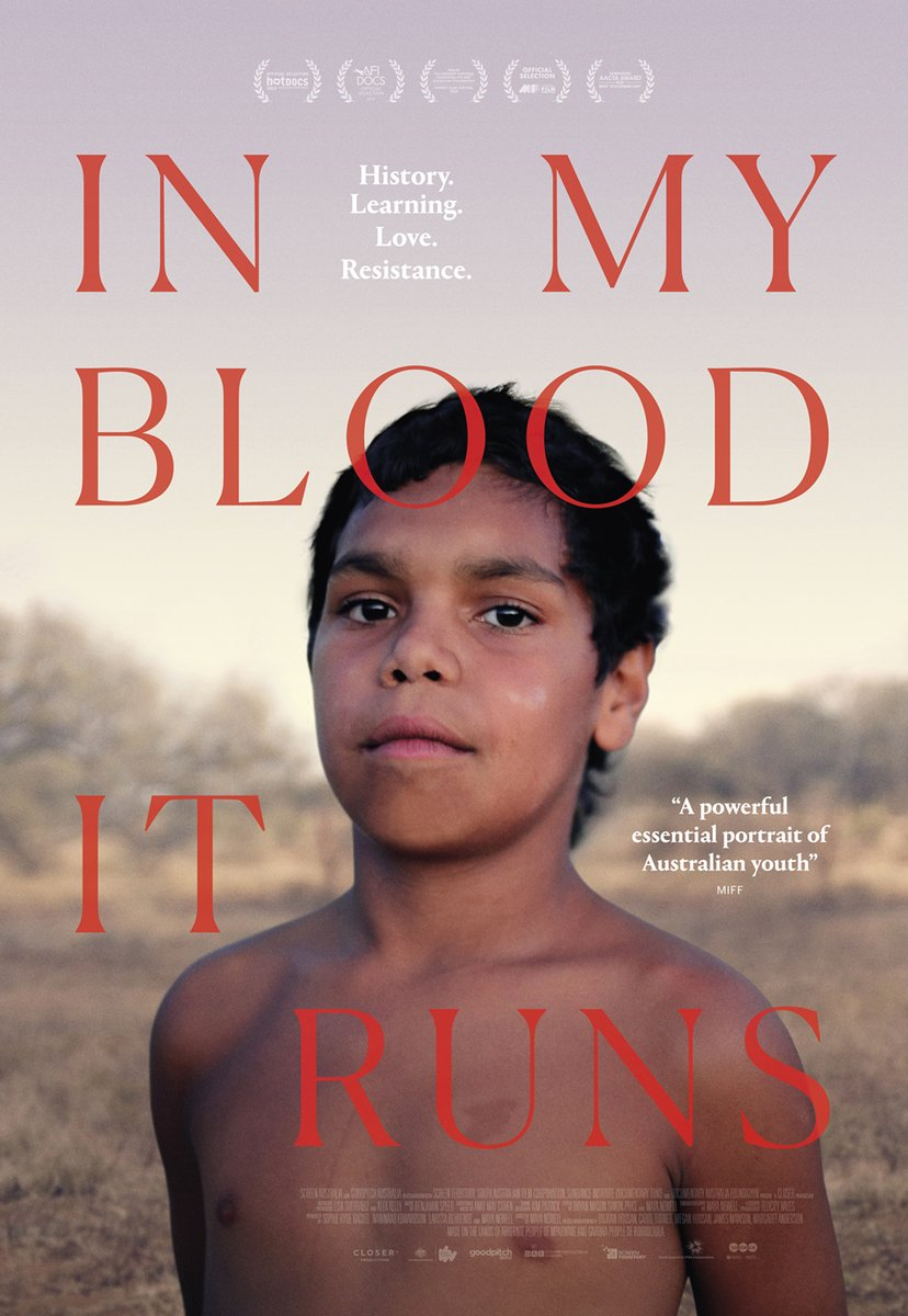6-7.30pm TONIGHT we'll hear from two experts about the issues raised by acclaimed film @inmyblooditruns for Indigenous Australians. If you haven't watched it already, you can rent the film on Youtube before the panel event. More info & register here: https://t.co/9DVyVHnIyI https://t.co/mBF8SRO1NQ