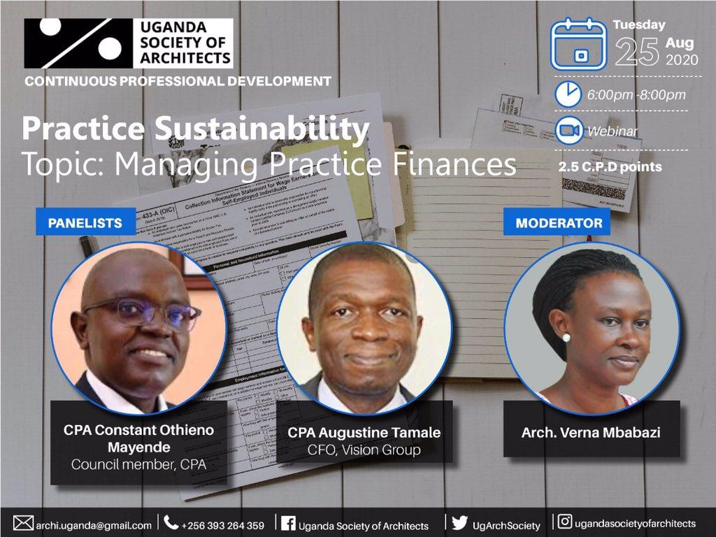 Do you know how to manage your finances in the practice of Architecture? @Arch_KE @ArchDaily @architectandre @kaigu55 @ArchForumUganda @UIA_Architects @ArchSsinab @ARBUganda @JacintaKabs @IAZimbabwe @KKCONSULTINGAR1 @ASA_IUEA @AUA_UAA @besa_fobe @rwadanladies @WanyangaStephen https://t.co/0NfaTfbv5u