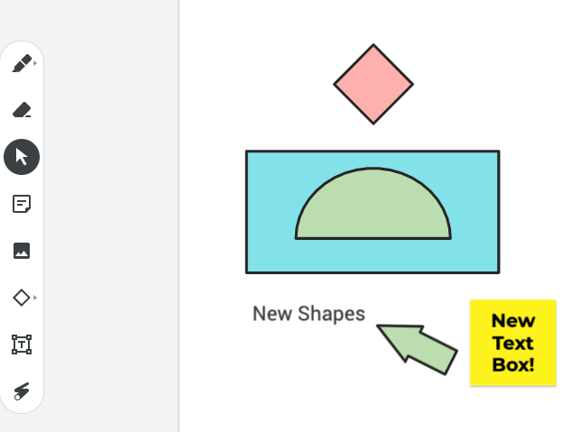 Awesome to see some new stuff in #jamboard! New shapes and text box available in web version! Thinking of the new possibilities!  @GoogleForEdu  #GoogleEI #GoogleEDU https://t.co/jQPNSUINjj