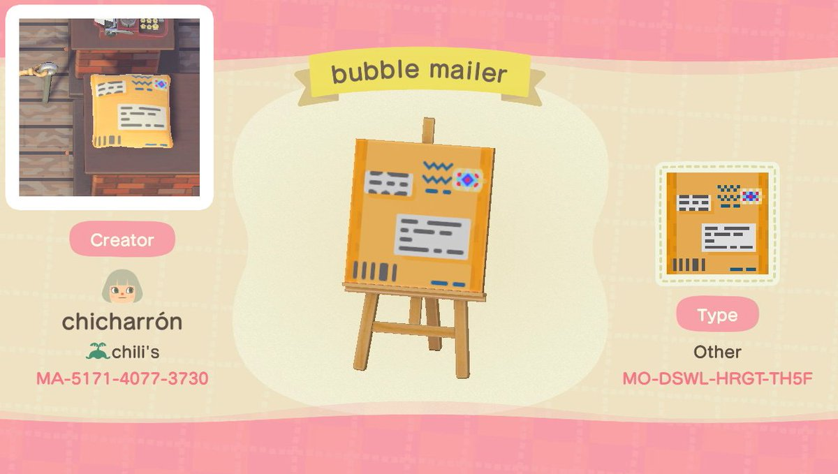 this kinda popped off on reddit so I figured I'd share it on here!!my very first design... support your local post office! #マイデザイン #どうぶつの森 #ACNHDesigns #AnimalCrossing #ACNH