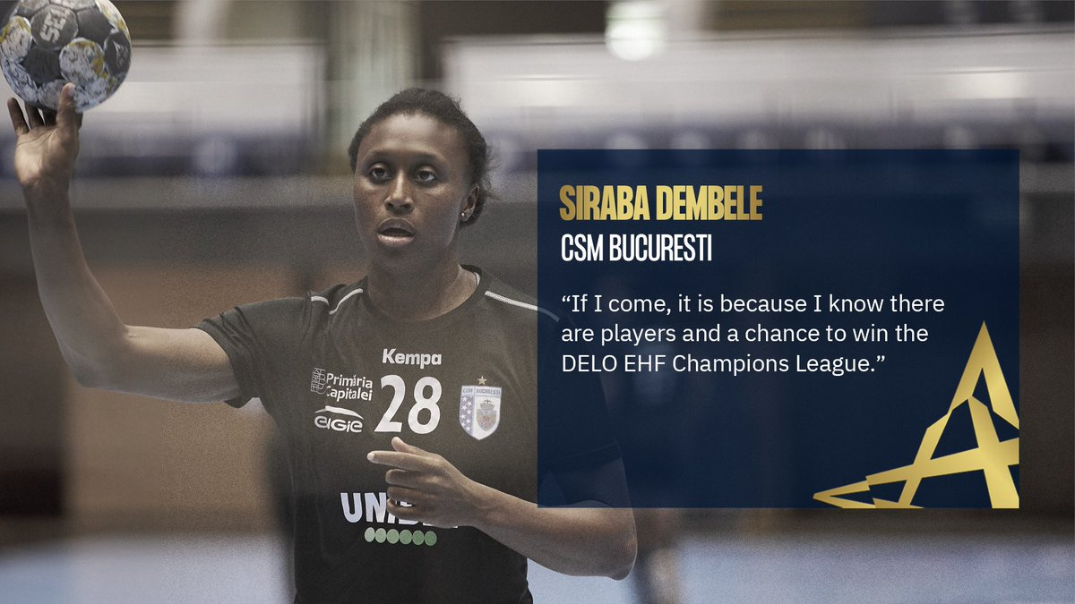 Siraba Dembele did not join @csm_bucharest to watch the next #ehffinal4 on TV 👊💥 #deloehfcl https://t.co/jbNGhD1HsN