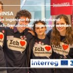 #DeutschINSA, la belle histoire #Interreg30 🇪🇺 de la semaine !  Depuis 10 ans, LA filière du #RhinSupérieur pour devenir un #ingénieur ou #architecte aussi à l'aise en 🇫🇷 qu'en 🇩🇪 👉🏾https://t.co/jnf07bHISB  Success Story #Interreg #Oberrhein der Woche 👉🏾https://t.co/dE6ekjkHY5