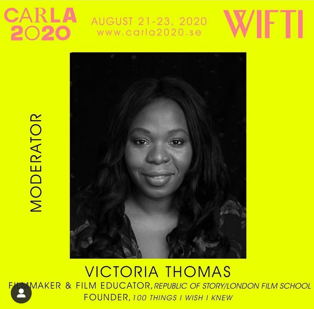 Victoria Thomas, LFS course leader, will be chairing discussions on decolonisation at @Carla2020 this weekend. @vertovvertov spoke to @TheSheEO about breaking into the industry, making films & the importance of finding a good mentor. https://t.co/htTLEoVUSK https://t.co/7QFw1i9b1H