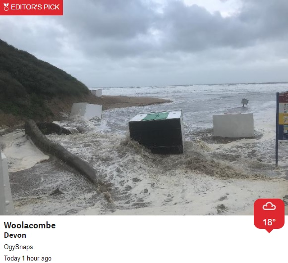The destruction after the night before😮  We saw gusts overnight of 67mph @ Berry Head + 63mph in Plymouth  Staying unseasonably windy today-coastal flooding risk⚠️: https://t.co/9RlTST9Yee  https://t.co/BJKYCNqCKI   Take care! @bbcspotlight @BBCSWWeather @BBCWthrWatchers #summer https://t.co/iRffe43ALC
