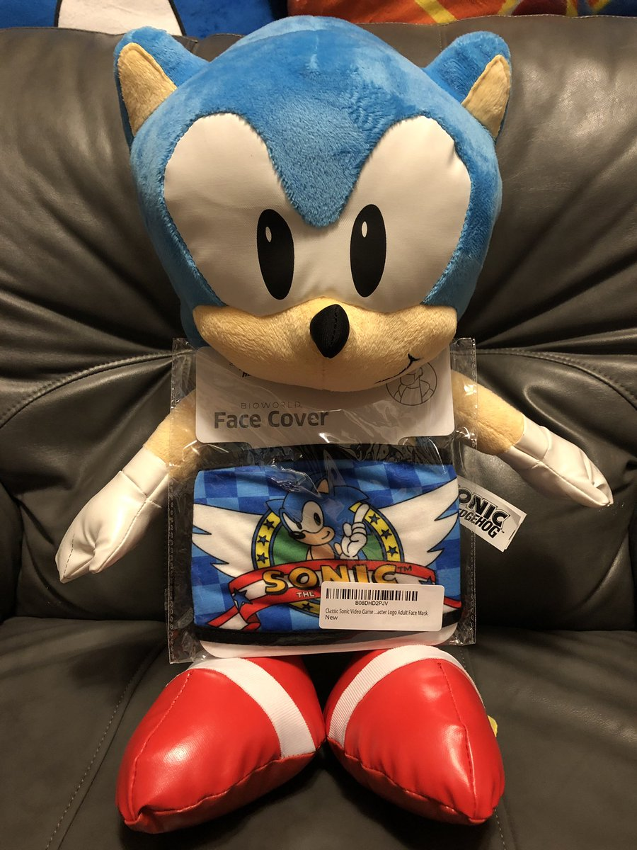 Billy K On Twitter Got My Sonic Mask In The Mail Today Fits Me Well And Also Fits Well On Large Sonic Plushes Lol Available On Amazon Sonicthehedgehog Sonic Hedgehog Https T Co Vpbi0s6dad