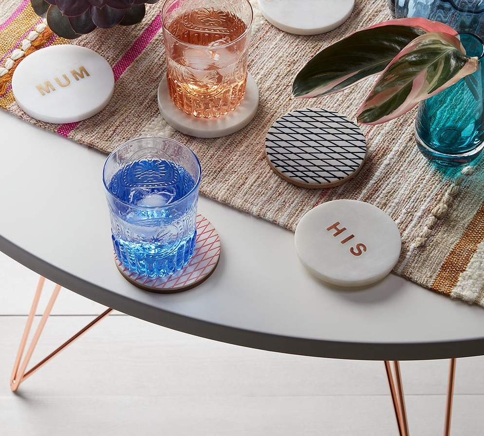 Make happy hour even more fun with these chic marble and brass coasters. #JLHome https://t.co/081oAFWdh8 https://t.co/a0BKtm4MKm