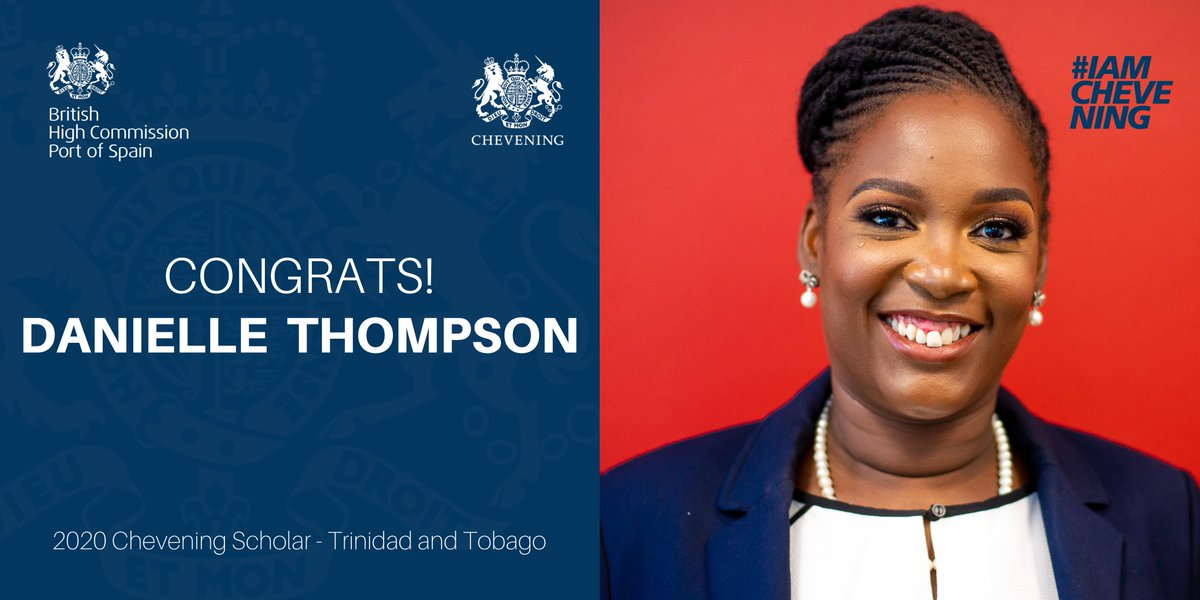 🇬🇧Our commitment to young people continues! ⠀ Today we head over to T&T 🇹🇹 to announce this year's 2020 @cheveningfco scholar! ⠀ CONGRATS @DanielleandEnzi 🇹🇹! ⠀ ▶️ Danielle will pursue an MSc in Criminal Justice Policy at @LSEnews  #ChosenForChevening https://t.co/dgBAACyza0