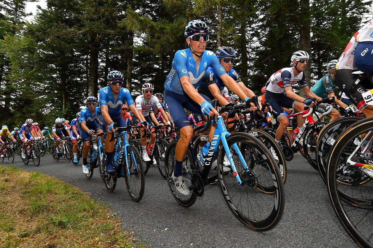 A solid ride by @EnricMasNicolau of @Movistar_Team star at Criterium du Dauphine. 📷 @GettySport https://t.co/2vnqfMPTJH