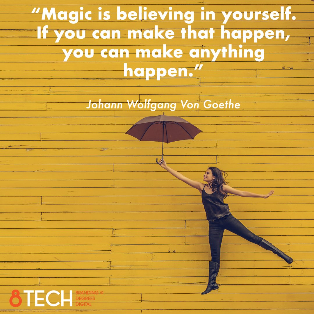 """""""Magic is believing in yourself. If you can make that happen, you can make anything happen."""" – Johann Wolfgang Von Goethe  #quoteoftheday #inspiration #motivation #quotes https://t.co/vRBR4q8bWY"""