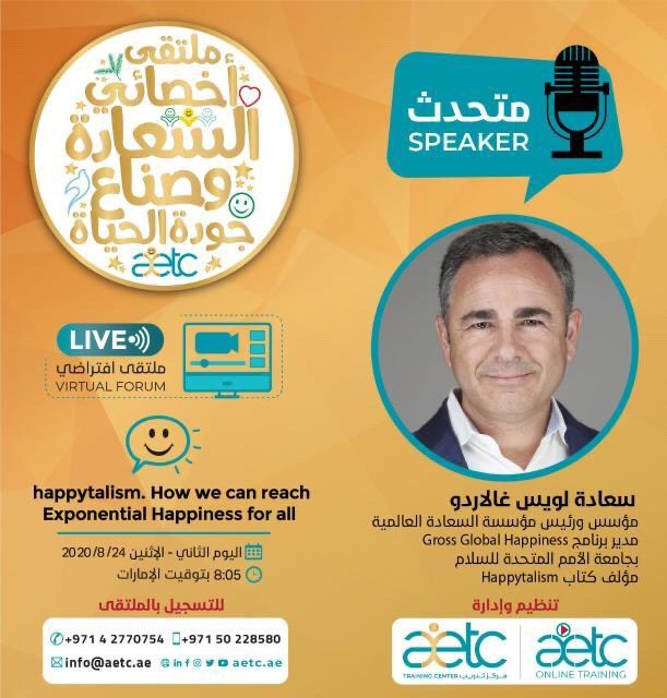 Join @aetc_ae and @lgallardo to explore #happytalism and The Exponentials of Happiness as enablers to meaningful and positive lives. @happiness_fest @uaegov https://t.co/GsNd6L43Y5