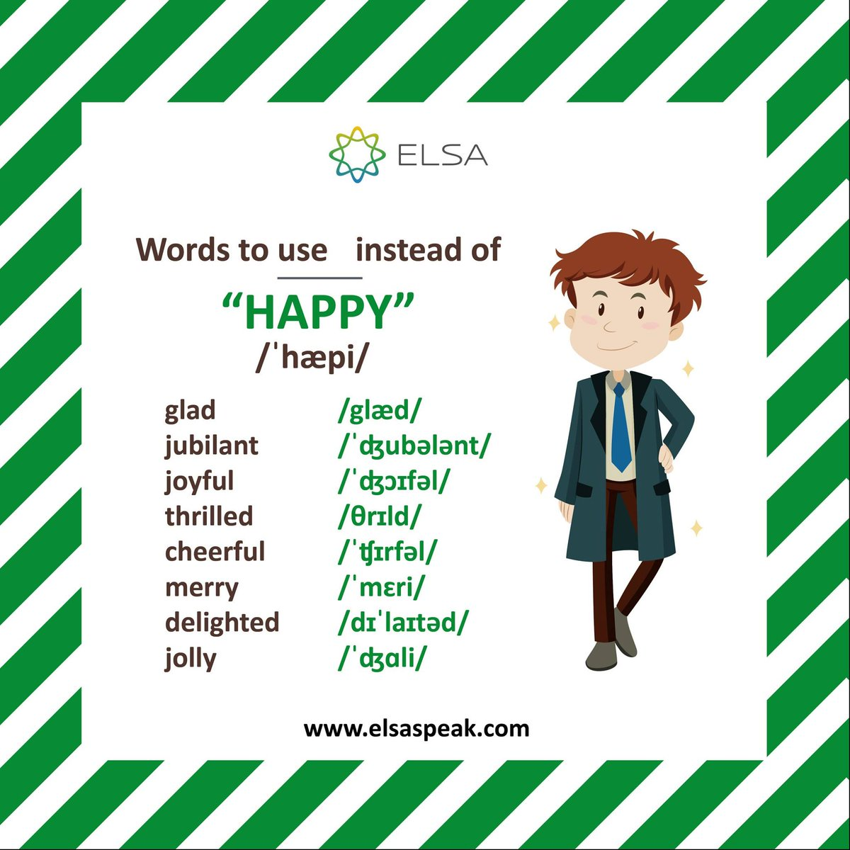 Its FRIDAY finally! Its time to relax and be happy. And why be happy in just one way when you can say it in so many more. Download Elsa Speak at https://t.co/bENiEpfRpe and learn to say several new words. #EnglishTips #SpokenEnglish #PracticewithElsa #FridayFeeling https://t.co/a2FI3kfQ1Q