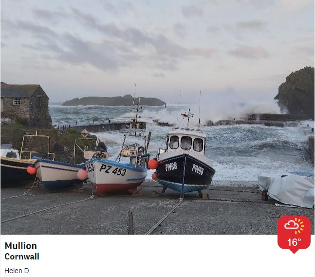 Still some stormy seas around the South West, the weather warning for strong winds is valid until 6pm and there are still some @EnvAgency flood warnings/alerts for parts of the coast. Winds gradually ease over the weekend, with some sunny spells and a few showers @BBCSpotlight https://t.co/VOd7Gpnrld