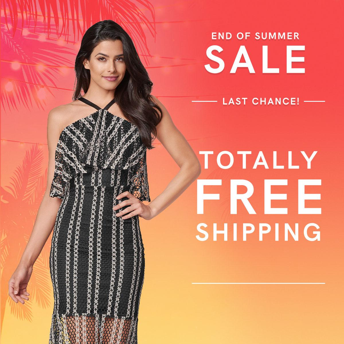 Find a dress for any occasion up to 75% off during our End of Summer Sale! Don't forget, FREE SHIPPING on all orders ends tonight at 11:59 PM ET. Click the links below to redeem!  Textured Two Tone Dress: https://t.co/jbxNYUuCvg  End of Summer Sale: https://t.co/4xU9x8Jv2v https://t.co/69xogpuhPs