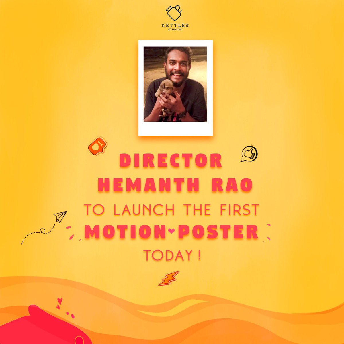 So pleased that @hemanthrao11 is releasing the motion poster for us tonight. Yay! https://t.co/YDNMpU25SI