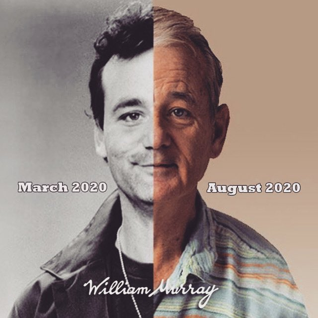 Image hits home a little harder for all parents who put the teaching cap back on this week (for another go at home schooling.)  Raising one up to world peace, 'Groundhog Day'-style, as something tells us this fall is gonna be a doozy.  #WilliamMurray #ZFG #BillMurray #Murrayisms https://t.co/7aIGr1oyMH