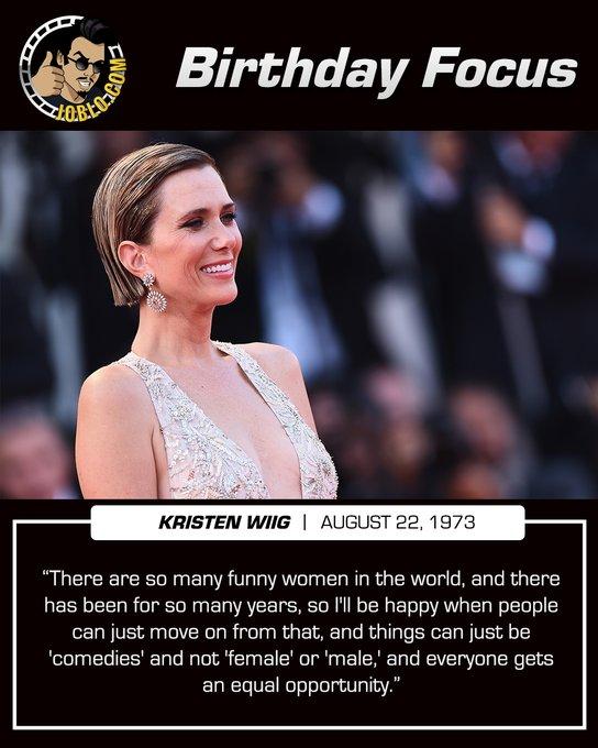 Happy 47th birthday to Kristen Wiig!