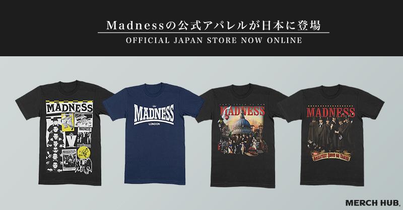新商品! Madnessの公式アパレルが日本に登場! merchhub.jp/artist/madness #Madness #JapanStore #officialgoods