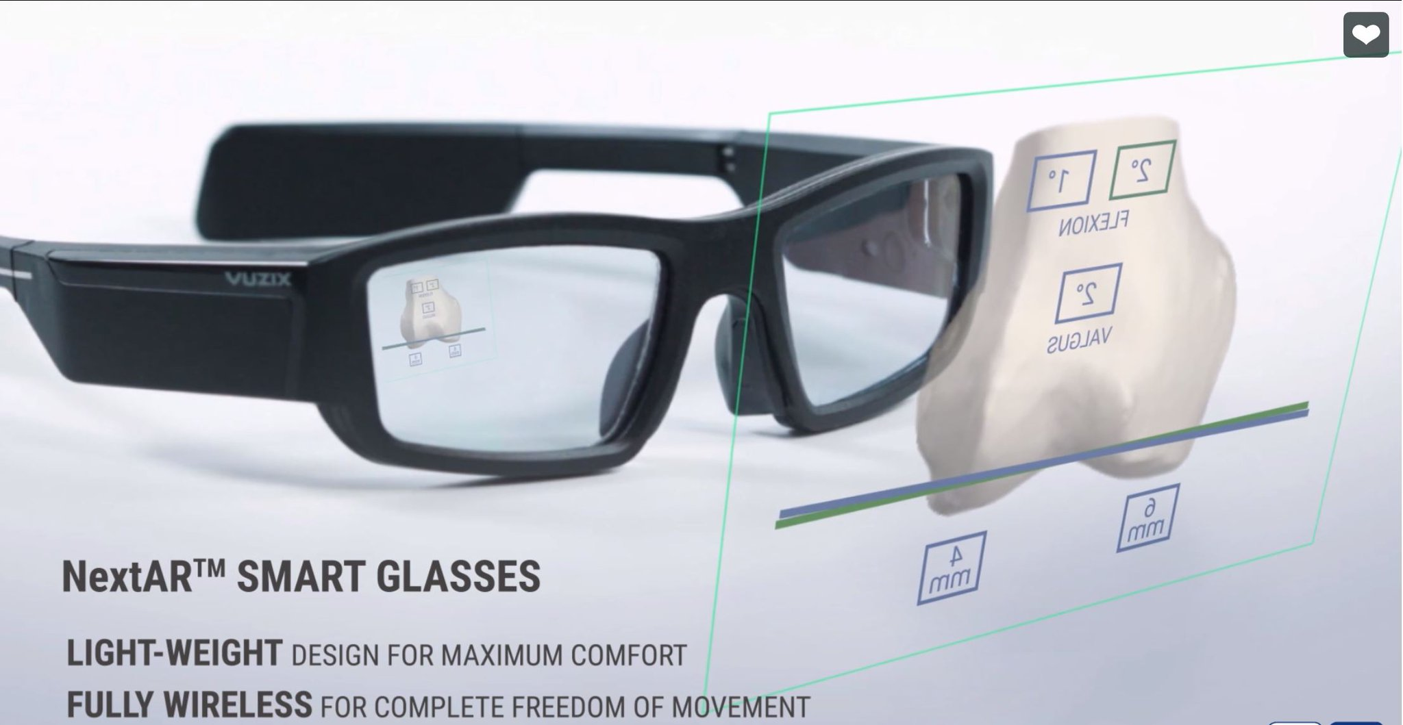 "Vuzix on Twitter: ""#VuzixBlade Smart Glasses featured by @medacta in their  NextAR(TM) augmented reality surgery platform video https://t.co/kUAQ8yBdEg  #NextAR #TotalKneeReplacement #Medacta #KneeSurgery #AR #healthcare $VUZI…  https://t.co/1rCUQK6m6l"""