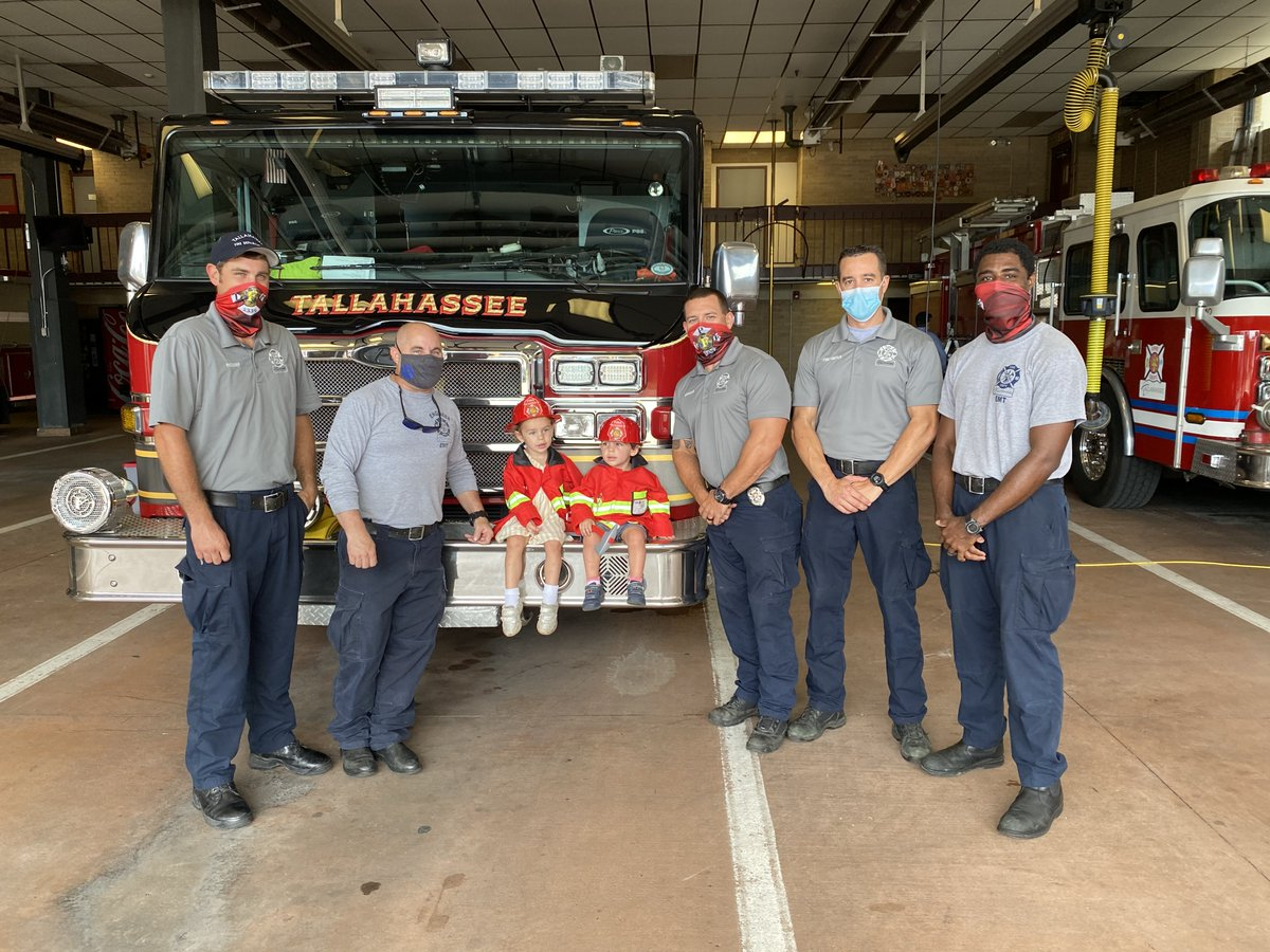 Thank you to our great first responders for your service — Madison and Mason are big fans!