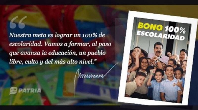 Inicia asignación de Bono 100% Escolaridad mediante el Carnet de la Patria  #VenezuelaDignaYAntiimperialista  https://t.co/Y6Nog6xOLk https://t.co/3wdyQAZ03b