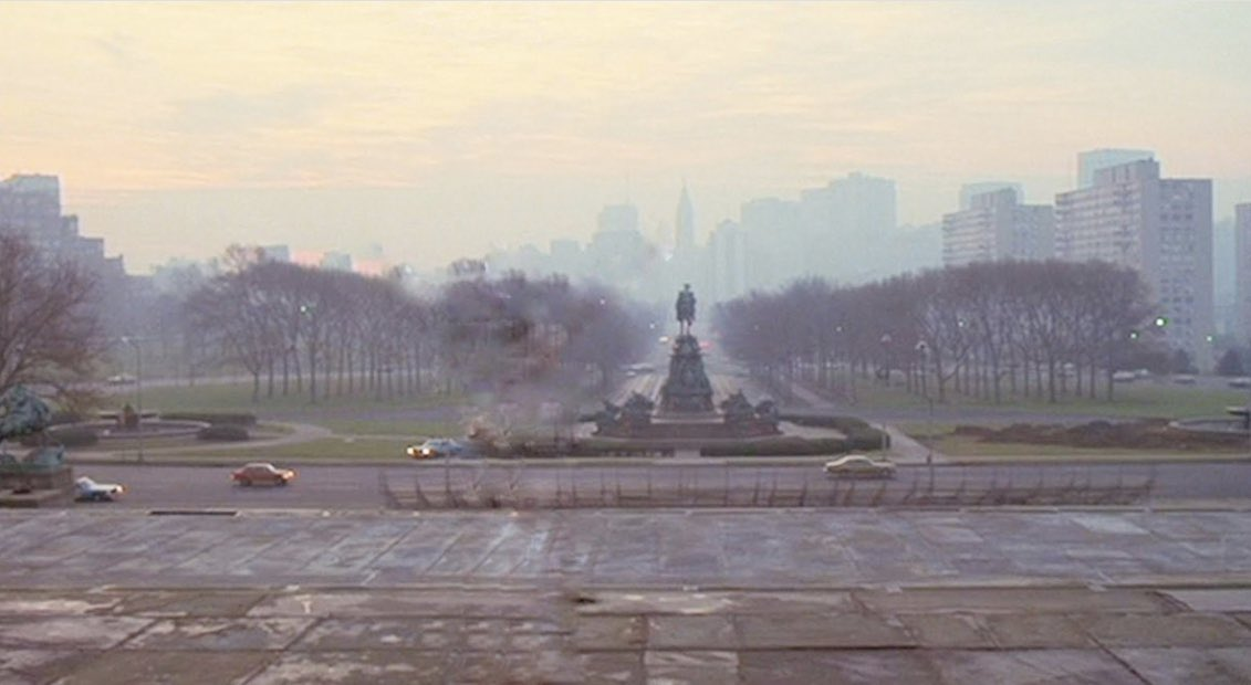 """Notice anything missing from this shot?   Can you imagine """"Rocky"""" without Rocky?   As the #GPFO has lost its funding, we are trying to raise $200,000 to keep #PhillyFilm alive. To help continue this legacy visit https://t.co/UfhEAeJdG9 and share to #SavePhillyFilm https://t.co/n7CggLuQLa"""