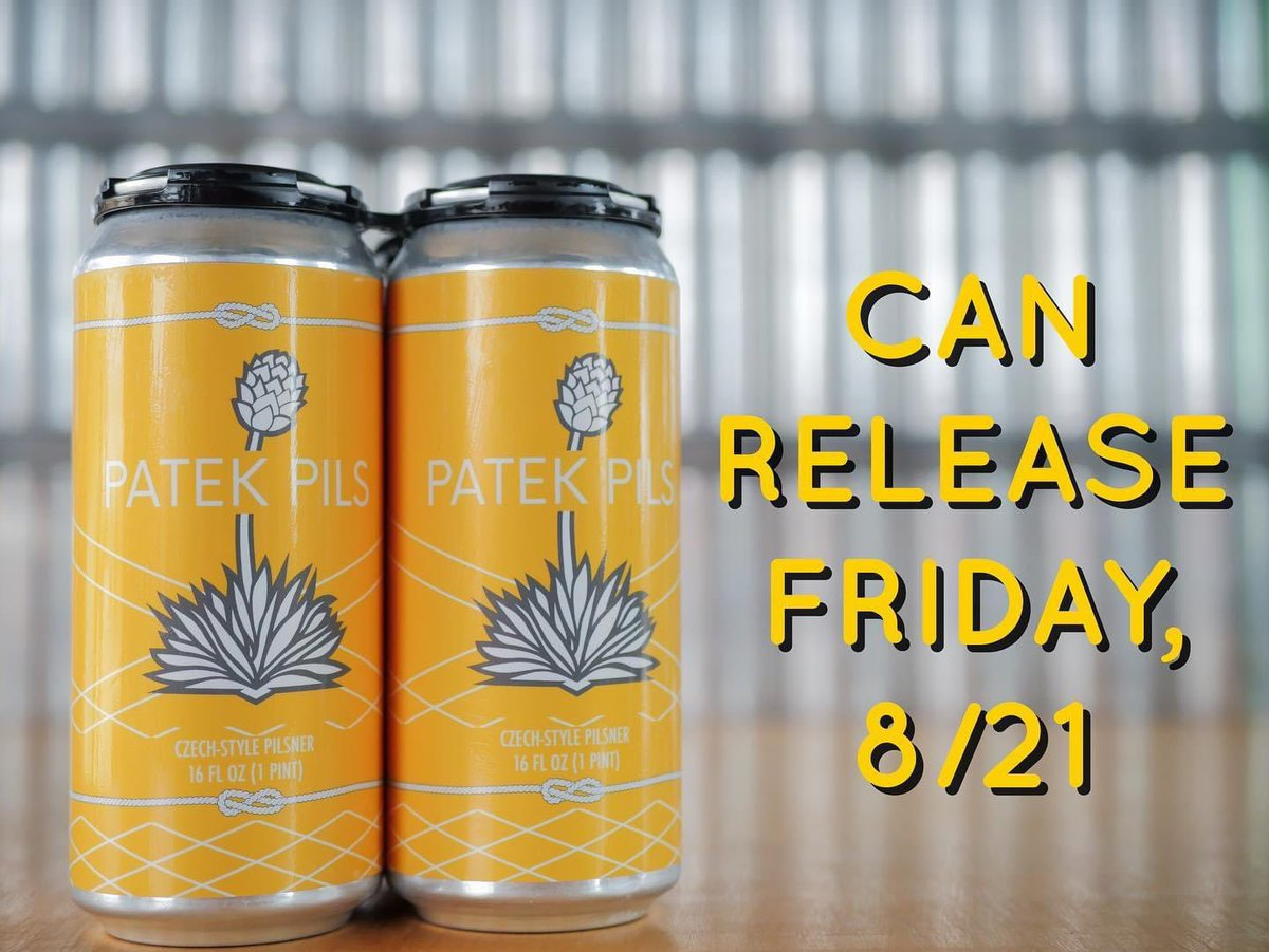 Patek's have our own beer now!!! 💛 🍺 Pondaseta Brewing Co. In Amarillo, TX!