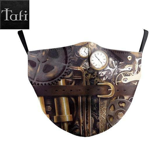 #steampunk https://t.co/L9jV0tcXhe Masks – 6 Steampunk Styles – Washable Cloth Reusable Designer Fashion Shopping Facemask – Works with PM2.5 Filter – Clockwork Gears Scorpion by ToyAndFashion