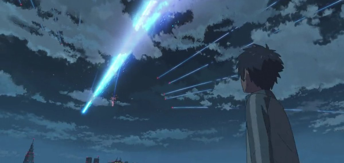 Kimi no na wa was brought me in different dimensions of time, amazing Cosmo phenomenon, aesthetic scenery, and a unique plot story then the soundtracks hits me differently (Sparkle). I am bit late but yeah this anime is superb!  Beautiful disaster  #YourName pic.twitter.com/L2TnfnDfkg